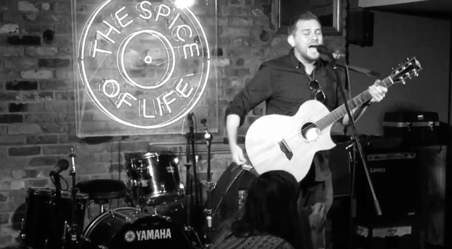 Sean Benjamin performing at The Spice of Life in Soho, London, UK, on 10 June 2017.